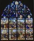 Lives of St Lawrence and St Stephen, stained glass window 1518, Bon Mort Chapel, Bourges Cathedral, France