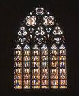 Window of the Apostles, sixteenth century, restored, Troyes Cathedral, France