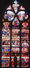 St Louis window, sixteenth century, Church of la Madeleine, Troyes, France