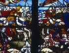 Victory of Constantine the Great, 16th century stained glass, Church of La Madeleine, Troyes, France
