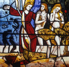 The Expulsion of Adam and Eve by Gabriel Loire Coignieres Church France