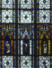 Crucifixion, 14th century stained glass, Chapel of the Immaculate Conception, Evreux Cathedral, France