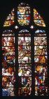 Manna from Heaven window, sixteenth century, Church of Sainte Foy, Conches, France