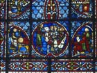 Joseph window, 13th century stained glass, Rouen Cathedral, France,