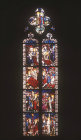 France, Strasbourg, St Guillaume, 15th century life of St Catherine by Peter Hemmel von Andlau, first window north nave.