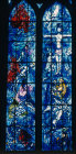 Old Testament window, by Marc Chagall, 1974, in the apse of Notre Dame de Rheims,  Rheims, France