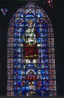 King Charles of France, 13th century stained glass, Rheims Cathedral, France