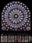 North rose window, Notre Dame, thirteenth century, Paris, France