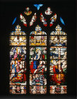 Crucifixion window with Guy de Laval and his family, Montmorency, France