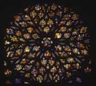 Rose window, west end, 15th century stained glass, La Sainte Chapelle, Paris, France