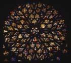 Rose window, west end, 15th century stained glass, La Sainte Chapelle, Paris, France