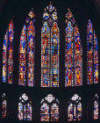 Apse windows, thirteenth century, and triforium window, fifteenth century, by Pinaigrier family, from the Church of St Hilary before the revolution