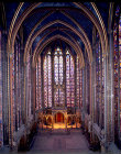 La Sainte Chapelle, looking east, thirteenth century, commissioned by Louis IX, Paris, France