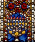 Menorah, German panel, fourteenth century, Church of St Etienne, Mulhouse, France
