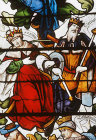 Two kings, detail from Tree of Jesse window, 1515, Autun Cathedral, France
