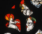 Musical angels, 1515, detail from Tree of Jesse, Autun Cathedral, France