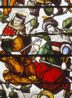Detail from Jesse Tree window, 1515, Autun Cathedral, France