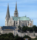Chartres Cathedral, East South East aspect, Chartres, France