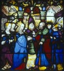 Marriage of Mary and Joseph, 16th century stained glass, Notre Dame, Chalons-en-Champagne, formerly Chalons-sur-Marne, France