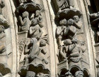 Witnesses of Resurrection, detail, central bay, south porch, Chartres South Porch, Chartres Cathedral, France