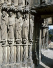 Chartres Cathedral, South Porch, central bay, right side, Saints Paul, John, James Major, St Bartholomew, St Jude 13th century