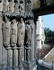 Saints Martin, Jerome and Gregory, thirteenth century, St Avitus, fourteenth century, right side, right bay, south porch, Chartres Cathedral, France