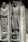 Chartres, South Porch, left bay, right jamb, Saint Piat and Saint George, 13th century