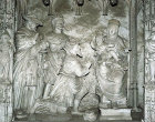 Adoration of the Magi, probably by Jean Soulas, sixteenth century, choir screen, south ambulatory, Chartres Cathedral, France