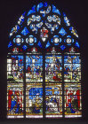 The Passion window, Notre Dame, Chalons-en-Champagne, formerly Chalons-sur-Marne, France, 16th century stained glass