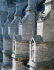 Chartres Cathedral France nave flying buttresses on the south