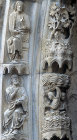France, Chartres Cathedral, north porch, centre bay,  archivolt, Creation of firmament, 13th century architectural sculpture