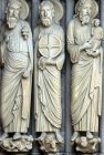 Isaiah Jeremiah and  Simeon right jamb central bay north porch Chartres cathedral 13th century