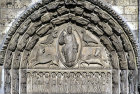 Chartres Cathedral, Royal Portal, central bay, Christ in Majesty with apostles