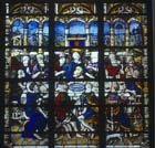 Last Supper, 16th century stained glass panel, Notre Dame, Chalons-en-Champagne, formerly Chalons-sur-Marne, France