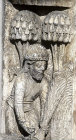 Chartres Cathedral, Royal Portal, left bay archivolt, month of July, cutting corn