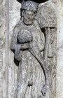 Chartres Cathedral, Royal Portal, left bay archivolt, month of April