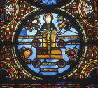 France, Paris, St Denis, The Ark of the Covenant 12th century stained glass