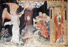 The third trumpet, Angers Apocalypse tapestry, 1377-82, commissioned by Louis I duc d