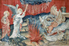The second trumpet, Angers Apocalypse tapestry, 1377-82, commissioned by Louis I duc d