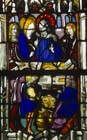Marriage at Cana, 16th century stained glass, Church of La Madeleine, Verneuil, France