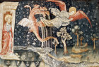 The dragon pursues the woman, Angers Apocalypse tapestry, 1377-82, commissioned by Louis I duc d