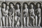 Chartres Cathedral, Royal Portal, central bay lintel, six of the twelve apostles