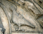 Chartres Royal Portal centre bay eagle symbol of St John the Evangelist 12th century