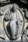 Christ in Majesty, central bay, Royal Portal, Chartres Cathedral, France