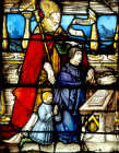 St Guillaume, panel 15, St Florentin window 1527, Church of St Florentin, France