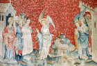 The third angel and the lamb, Angers Apocalypse tapestry, 1377-82, commissioned by Louis I duc d