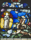 The Vision of the woman and dragon panel 4 Apocalypse window in the Church of St Florentin France 1529 AD