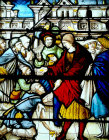 St Florentin giving money to poor, sixteenth century, Church of St Florentin France