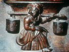 Misericord of milkmaid, fifteenth century, Church of La Trinite, Vendome, France