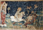 First battle of the end, Angers Apocalypse tapestry, 1377-82, commissioned by Louis I duc d